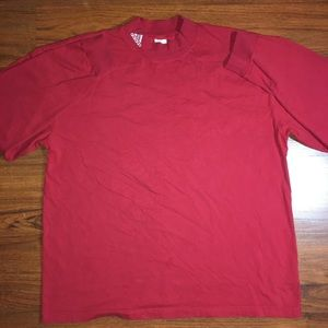 ADIDAS RED LONG SLEEVE TURTLE NECK